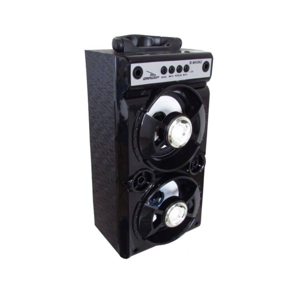 Caixa de Som Amplificada Conexão Bluetooth, USB, Entrada P2 ? Grasep D-BH1062 PRETO