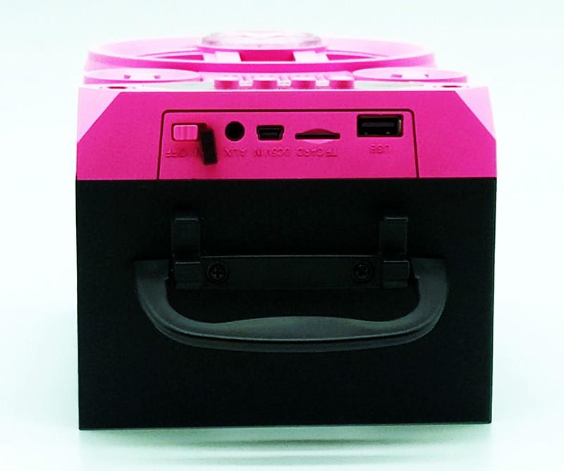 Caixa de Som Bluetooth  MP3 / USB / SD / Aux Grasep  D-BH4104 Rosa
