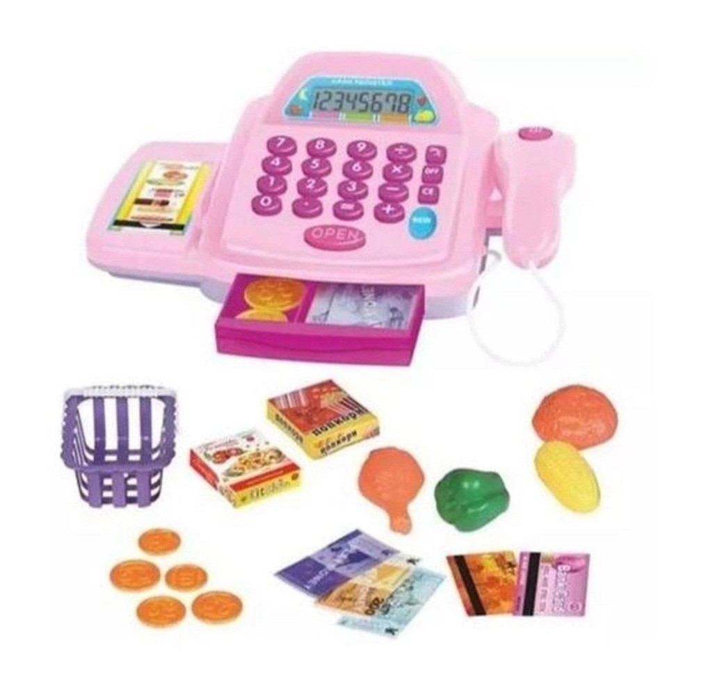 Caixa Registradora Rosa Com Som E Luz + Acessórios Glam Girls REF: WB 5207