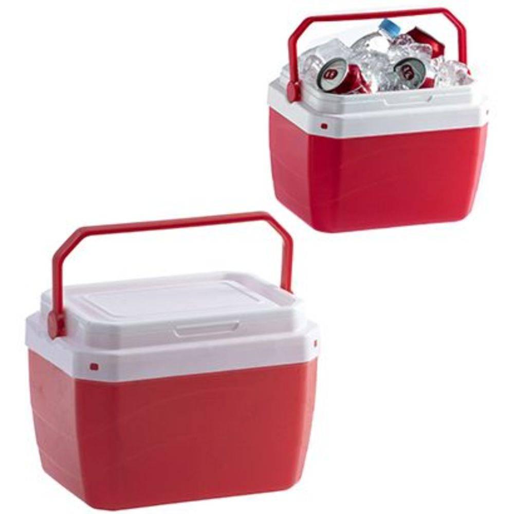 Caixa Termica De Plastico Vermelha 6l 20,8x21,3x28,3cm