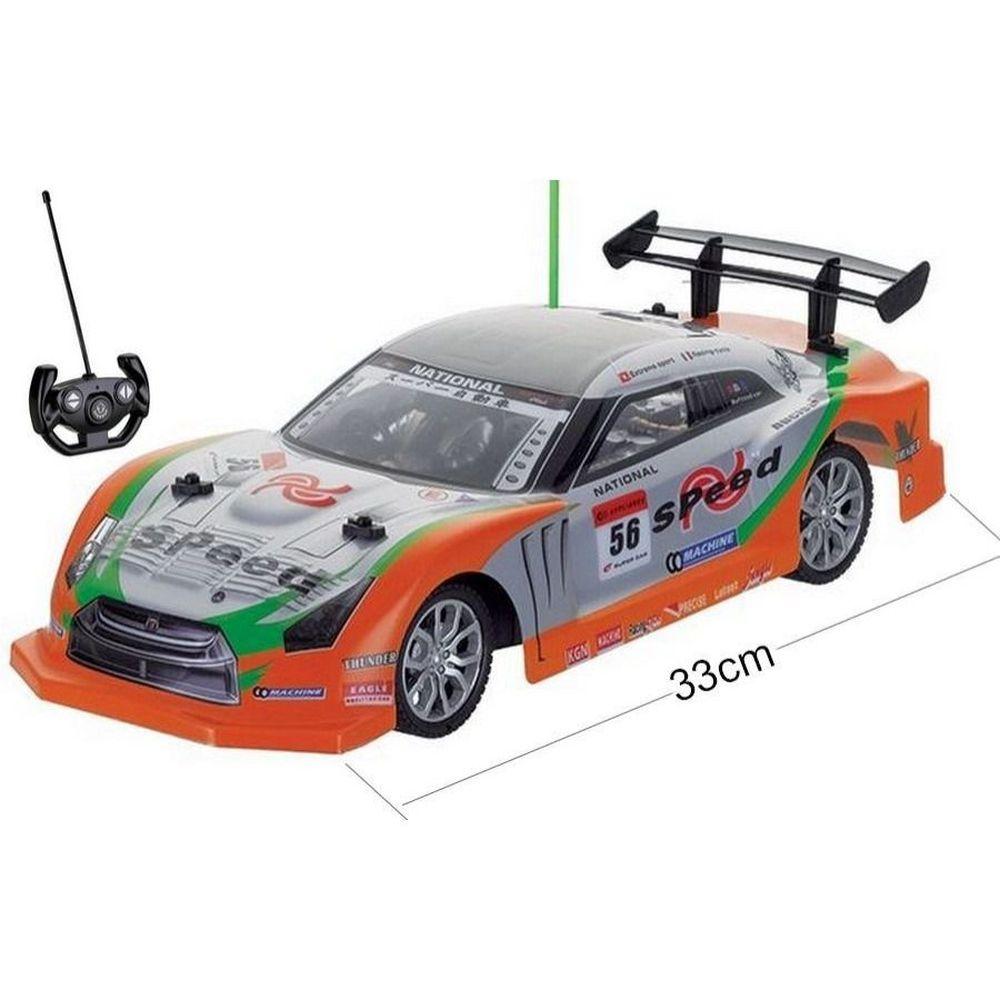 Carrinho Carro Controle Remoto 1:14 Corrida 33cm - (REF: NX 96649 W) Laranja