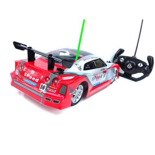 Carrinho Carro Controle Remoto 1:14 Corrida 33cm - (REF: NX 96649 W) Vermelho