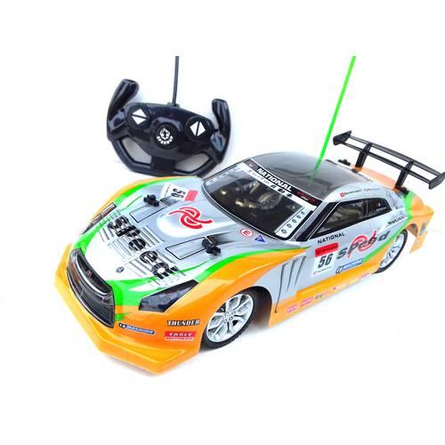 Carrinho Carro Drift Speeed Controle Remoto 1:14 Corrida Turbo 33 cm  Amarelo - NX96649W