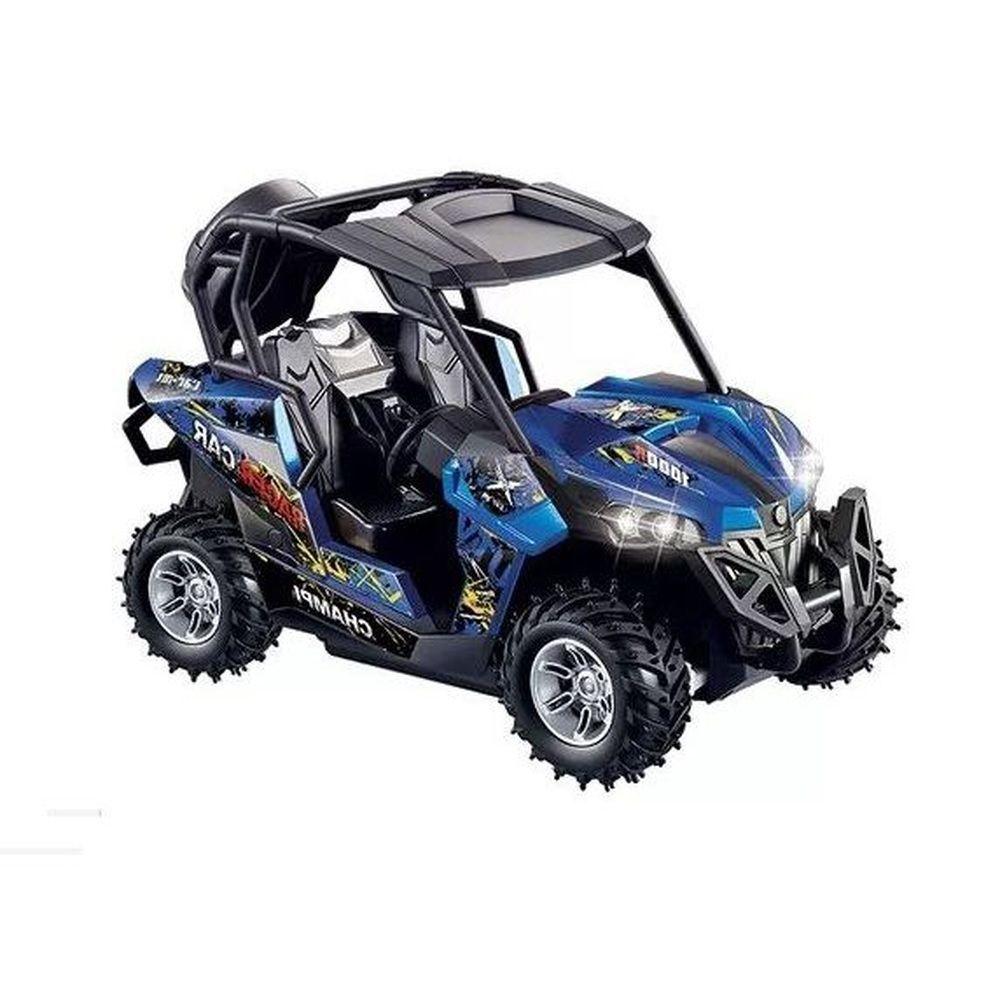 Carrinho Controle Remoto Rally Adventure 2.4 ghz Recarregável REF: ZF 4201 AZUL