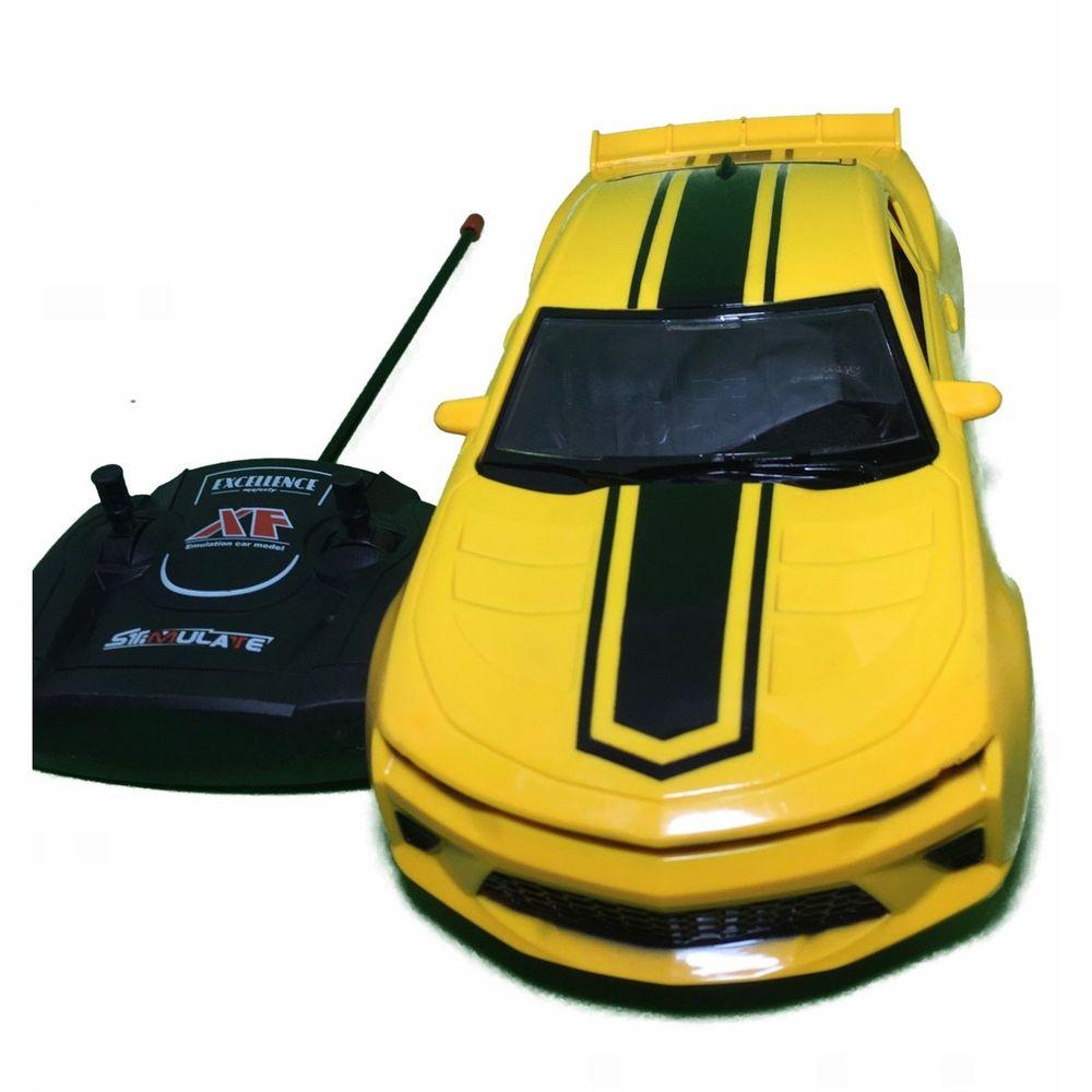 Carrinho  De Controle Remoto Camaro Amarelo 7 Funções 26cm -  Art Brink ZB192