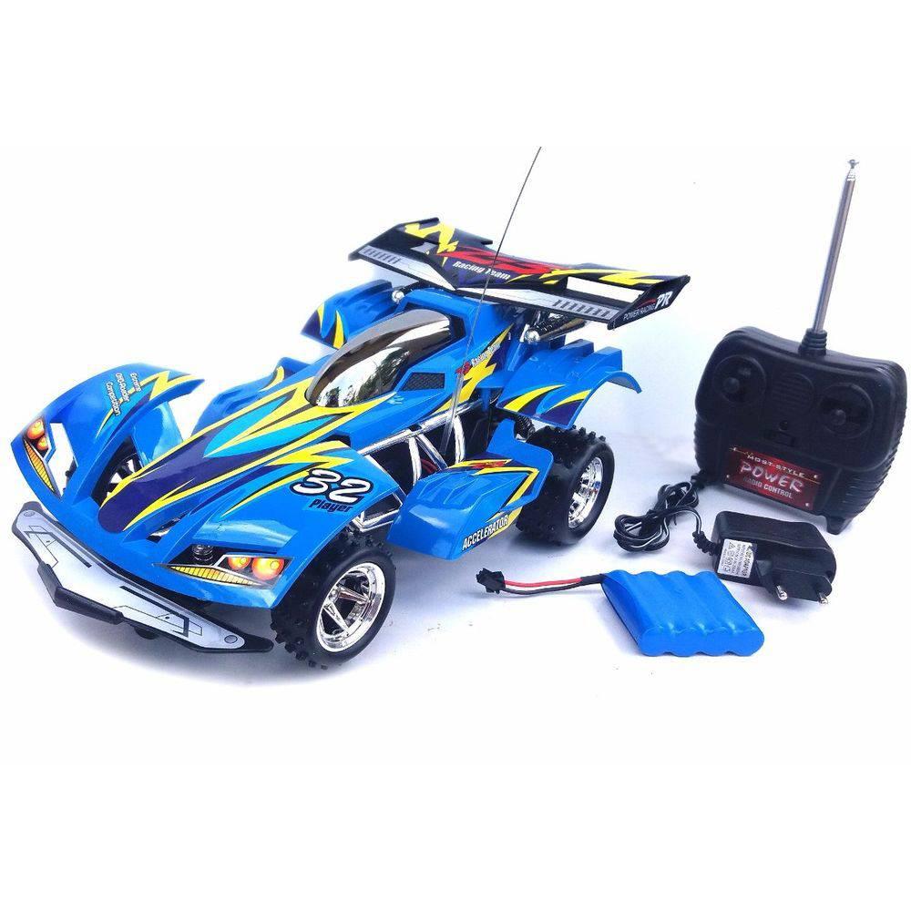 Carro com controle remoto Extreme - Azul - Candide