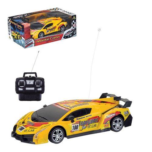 Carro Controle Remoto 4 função Monte Carlo Amarelo