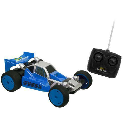 Carro Controle Remoto 7 Funções Super Racing Azul - Candide