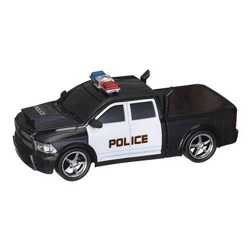 Carro de Policia Pickup Controle Remoto  Preto - ZFT009