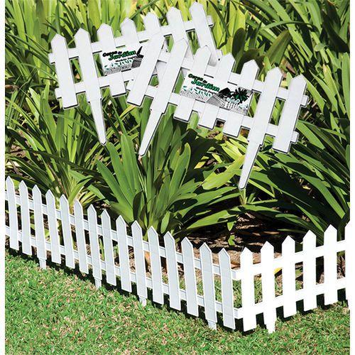 Cerca Decorativa Para Jardim De Plastico Branco Kit Com 3 Pe