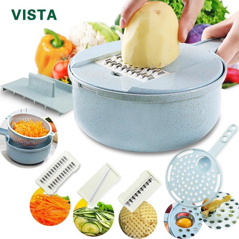 Cortador de Legumes 8 em 1 - Multifuncional Supercheff para tudo o que você precisa.