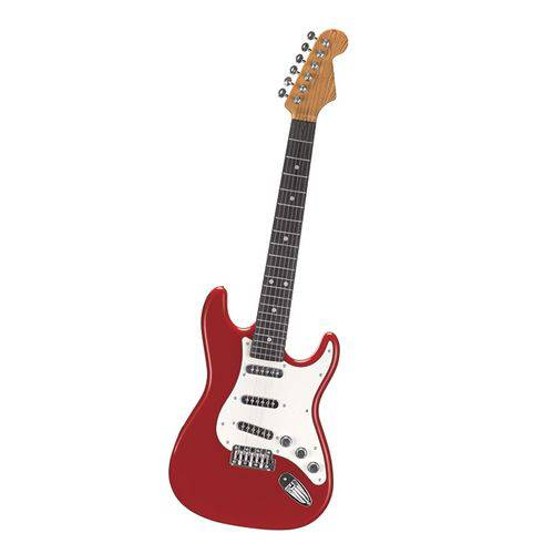 Guitarra Eletrônica Infantil Brinquedo Rock Star  Vermelho  - ZF4746