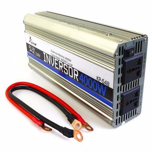 Inversor Conversor Tensão Transformador Veicular 12V para 110V 4000W KP 548 Knup