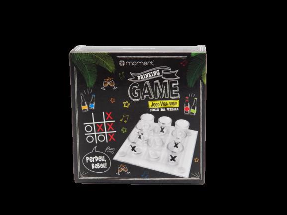 Jogo Da Velha Drinking Game Perdeu Bebeu + Kit Bar 3 peças