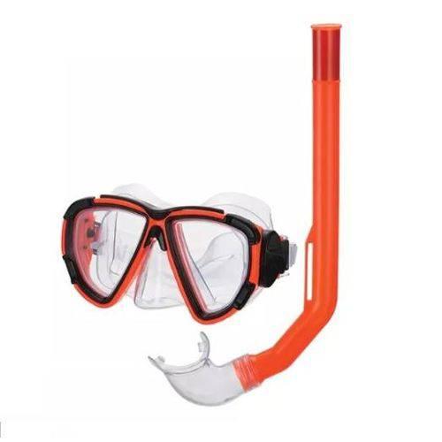 Kit Mergulho com mascara snorkel Laranja REF: ZFT 191