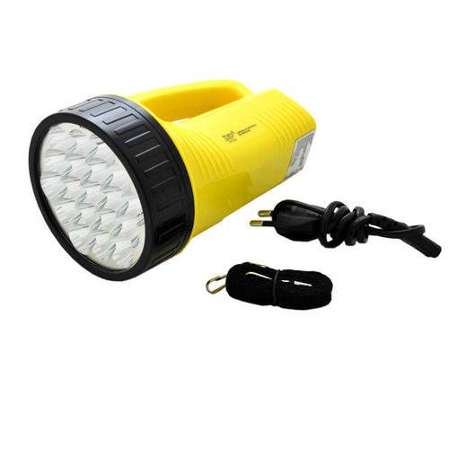Lanterna Holofote Dp 1706 Super 19 Leds Bivolt Recarregável