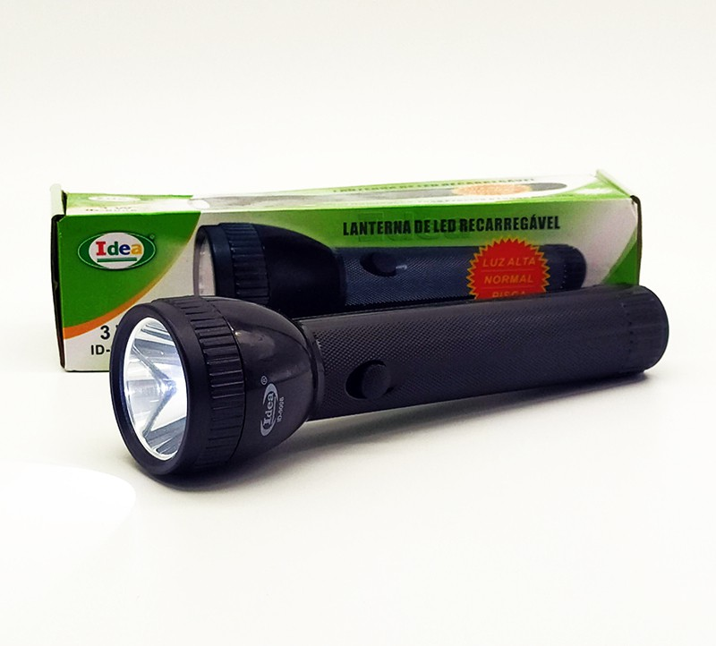 Lanterna Led 3w Recarregável Longo Alcance  ID-9006