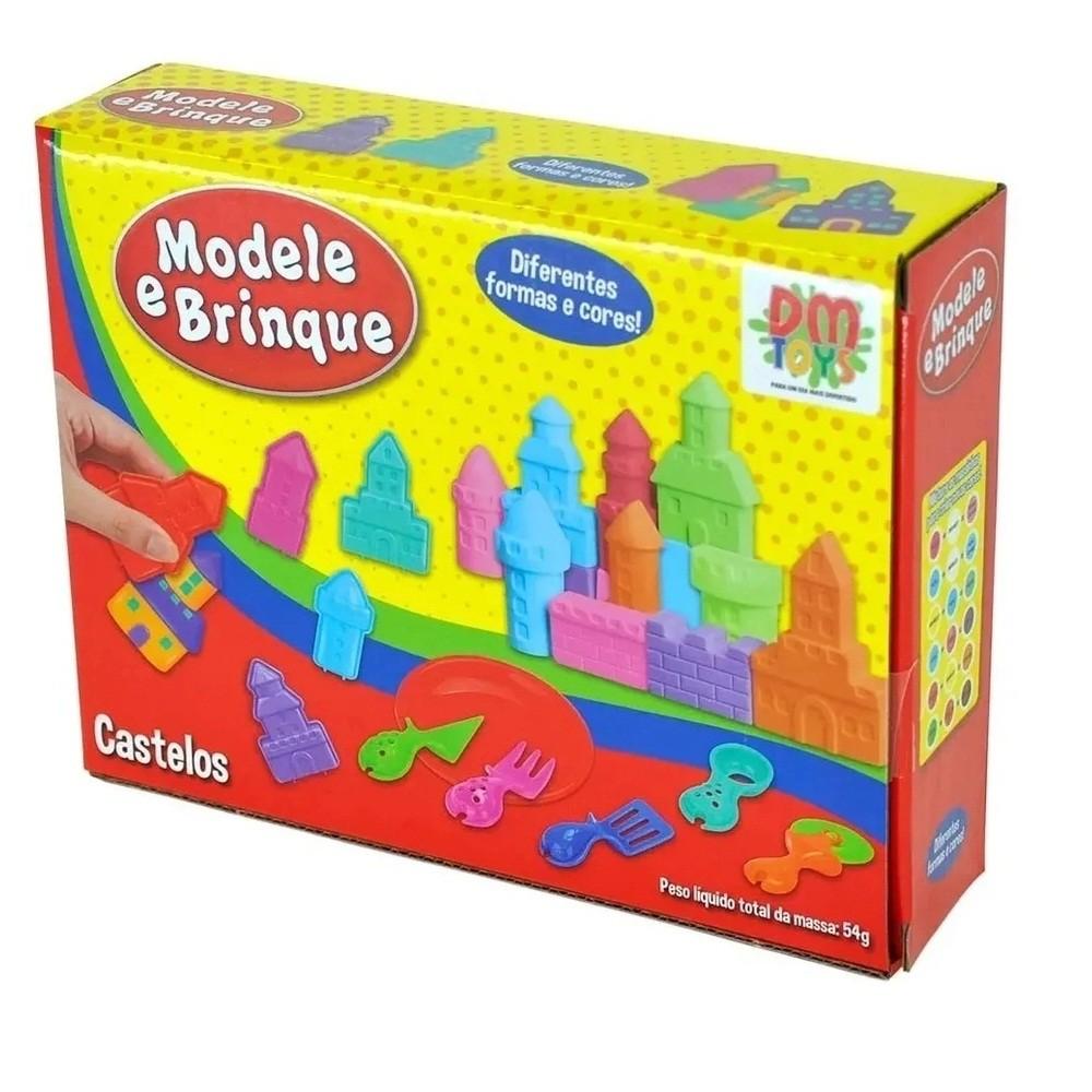 Massinha Modelar Modele E Brinque Castelos Com Acessórios