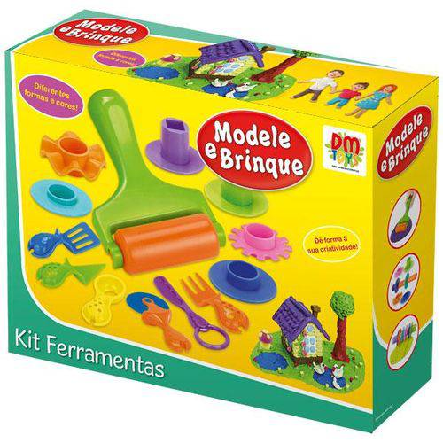 Massinha Modele e Brinque Kit Ferramentas DM TOYS (DMT 4729)