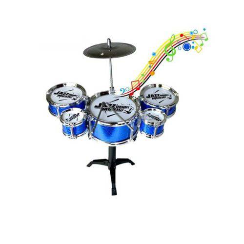 Mini Bateria Musical Infantil 5 Tambores - Happy Jazz Drum REF: NO 999-10  AZUL