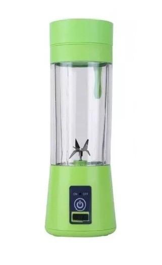 Mini Liquidificador Portátil Recarregável Usb 6 Lâminas Knup Verde