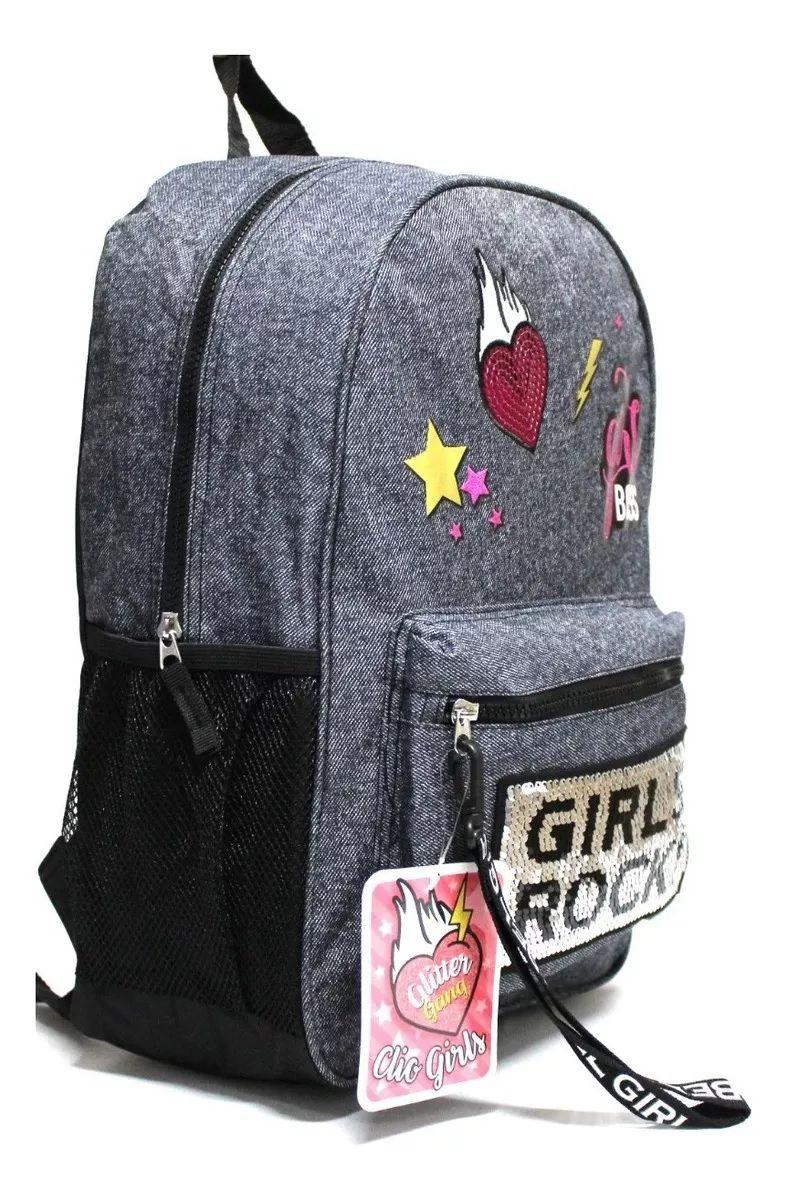 Mochila Juvenil Clio Jeans Girls Rock - Clio