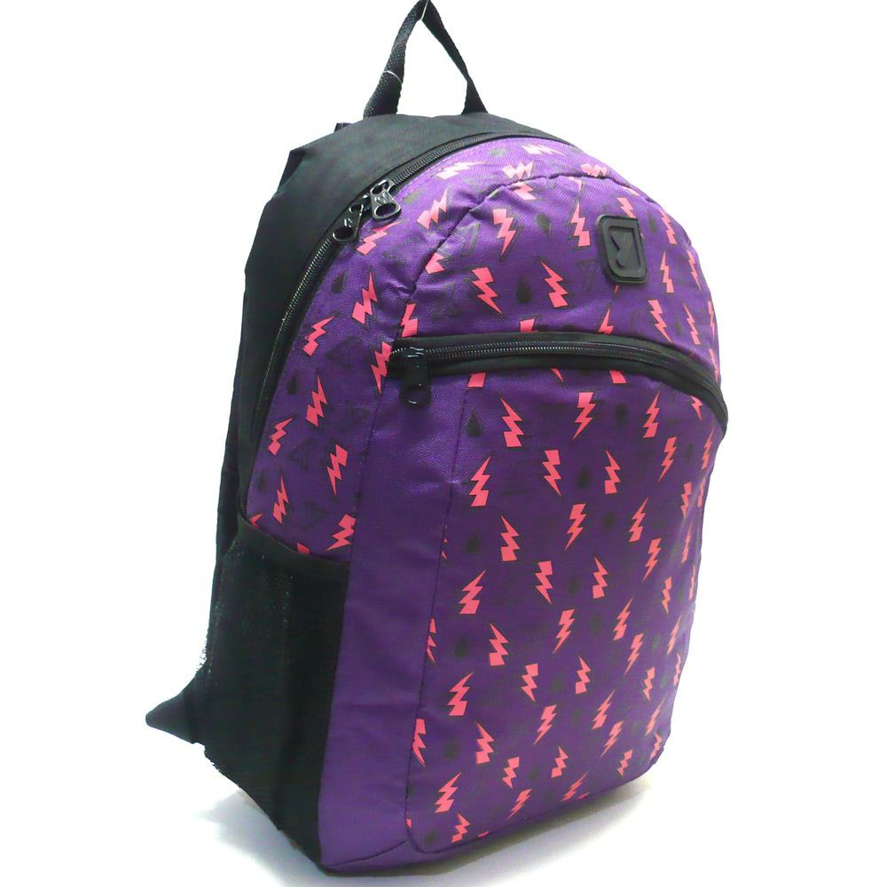 Mochila Juvenil Yins Color Up Raio Costas Seanite G Roxo - MJ10884