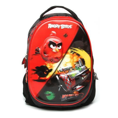Mochila Santino Angry Birds 5D Preta/Vermelha (ABM 800301)