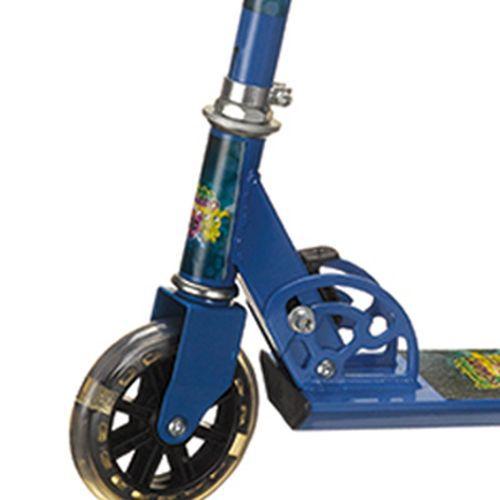 Patinete De Alumínio Com Rodas Iluminadas Até 50kg - Turminha Do Assombro - Azul