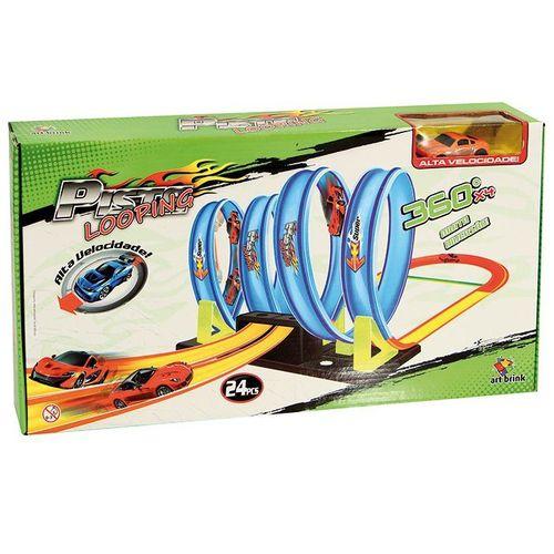 Pista Looping Super Radical Tipo Hot Wheels Com Carrinho REF: NB95845W