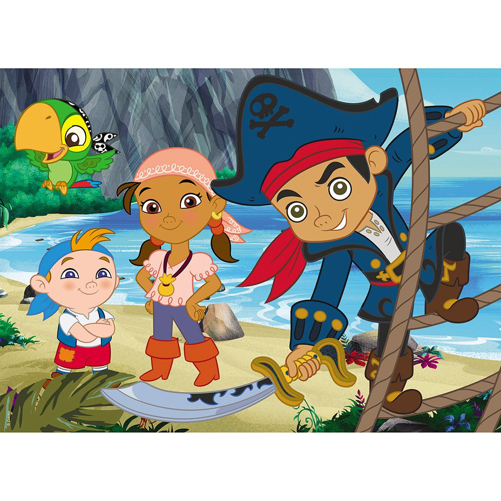 Quebra-Cabeça  Puzzle Capitão Jake e os Piratas 60 Pçs - Grow