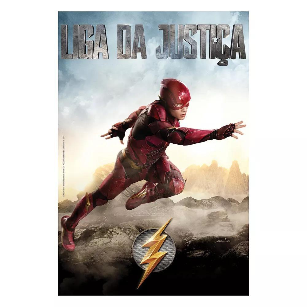 Quebra-Cabeça Puzzle The Flash Liga Da Justiça 200 Peças 3529 - Grow