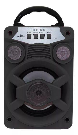 Radio Portatil Bluetooth/usb D-bh4105 - Preto