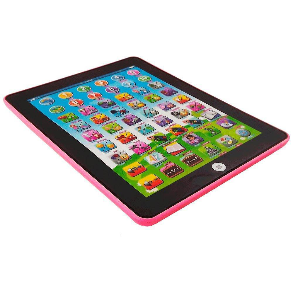 Tablet Interativo Educativo Bilingue Rosa