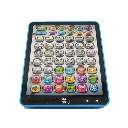 Tablet Interativo Educativo Infantil Didatico 54 Funções Computador Laptop Ingles Portugues AZUL