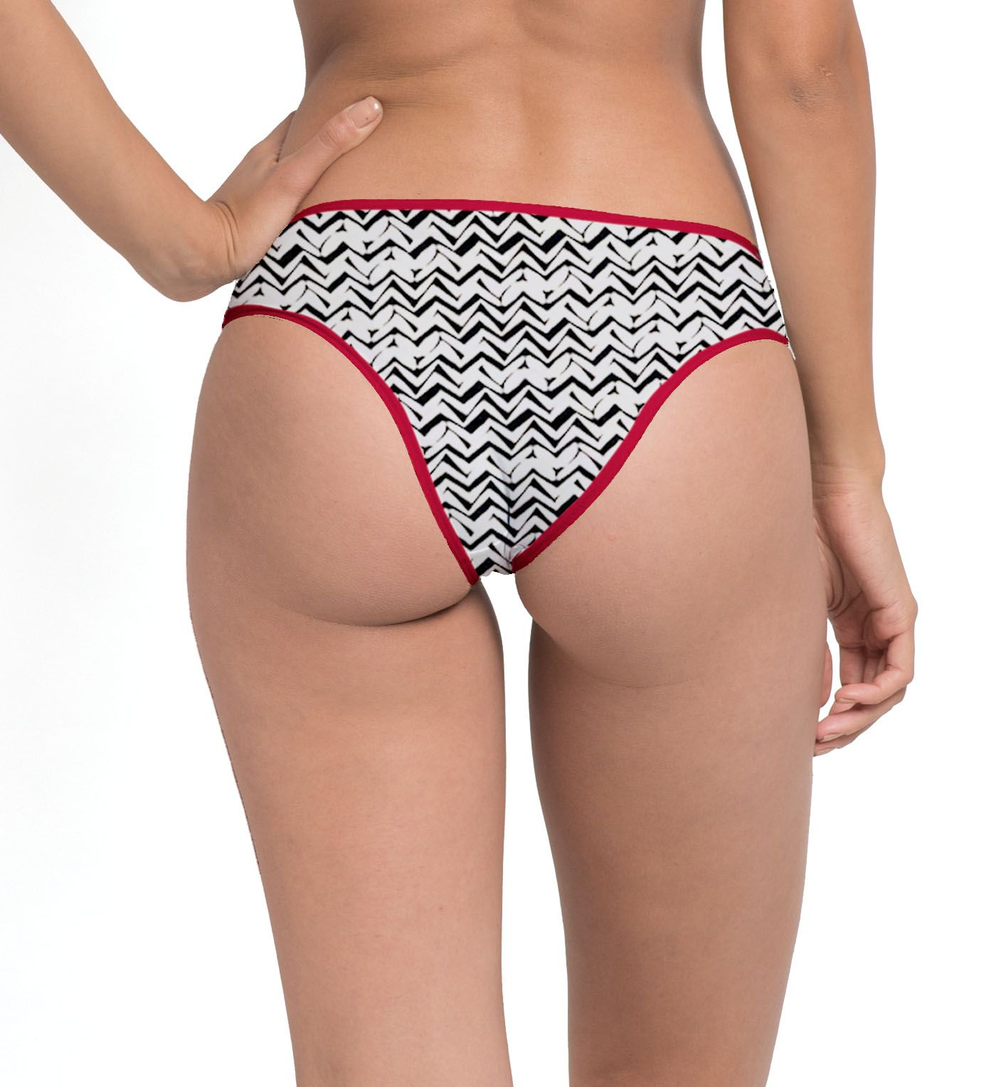 Boy Short Degradê - Chevron Ecru   - Lalie Lalou