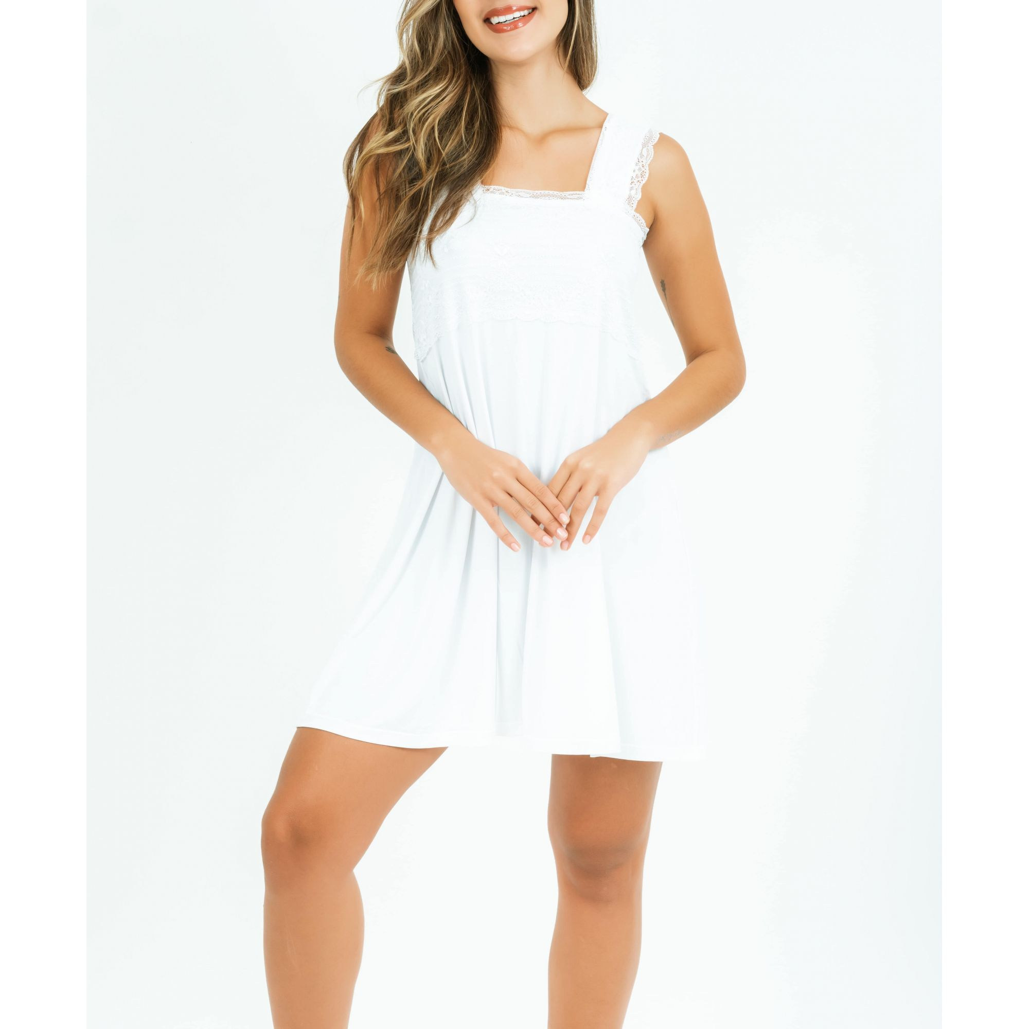 Camisola Natália Curta - Branco