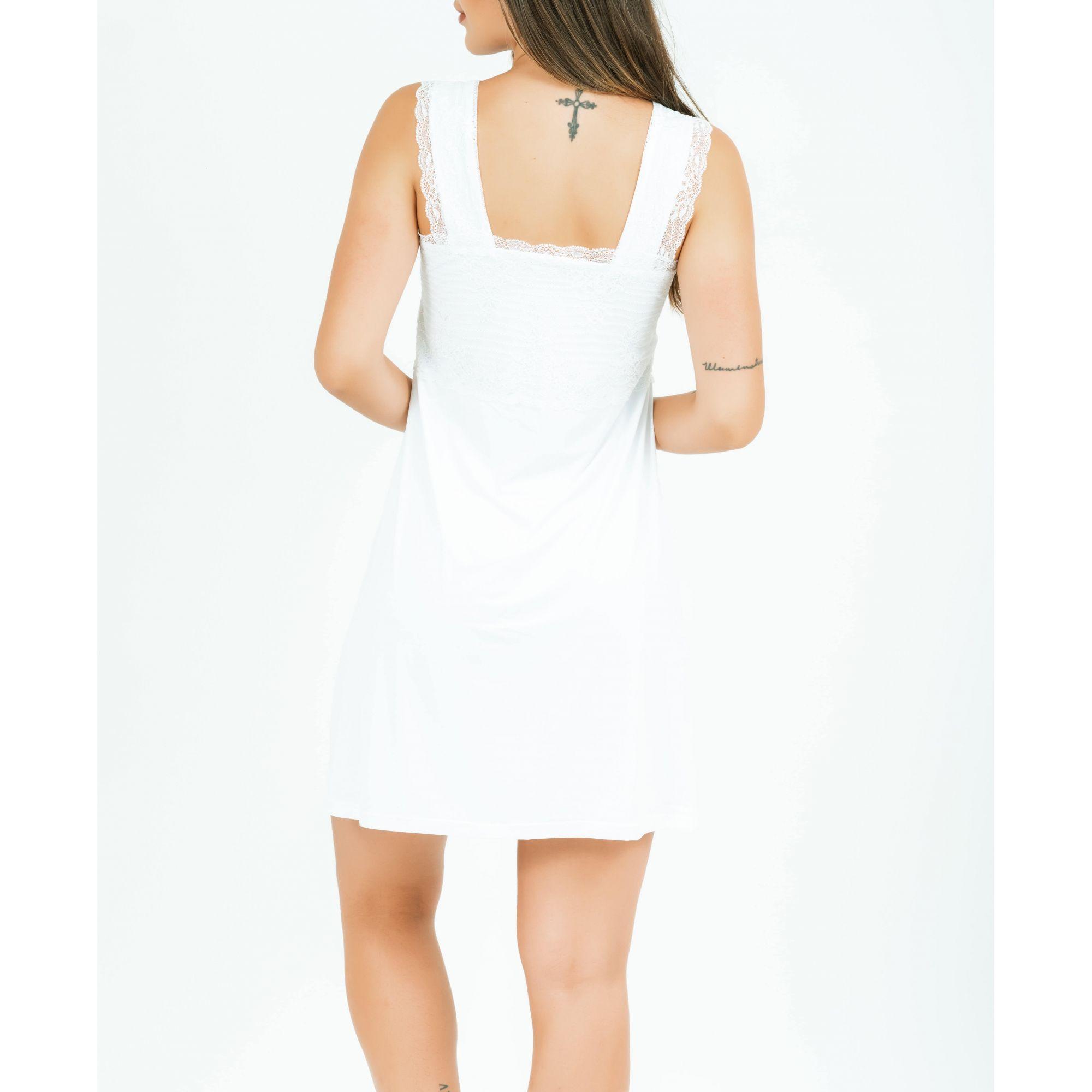 Camisola Natália Curta - Branco   - Lalie Lalou