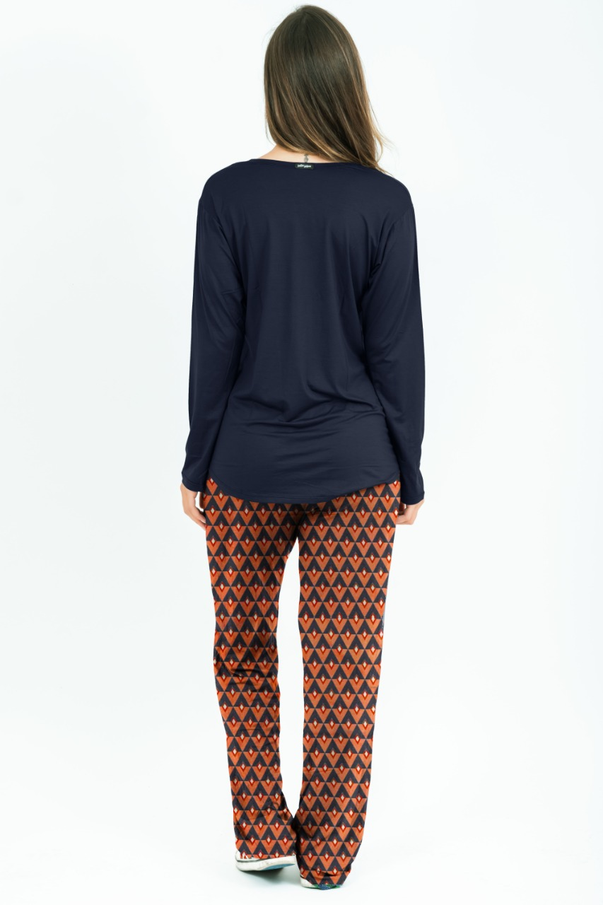 Pijama Fabrícia - Cabanas Deep Blue  - Lalie Lalou