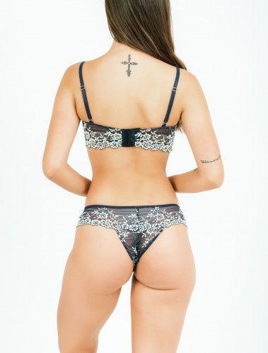 Sutiã Betina - Marinho Duocollor  - Lalie Lalou