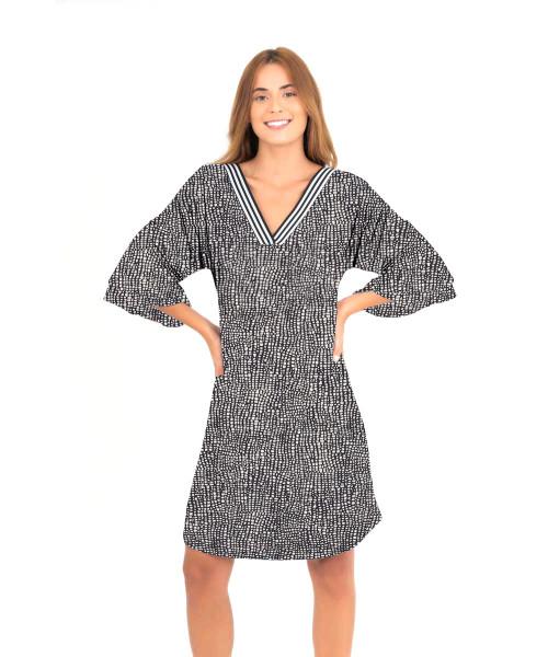 Vestido Erica - Quadrados  - Lalie Lalou