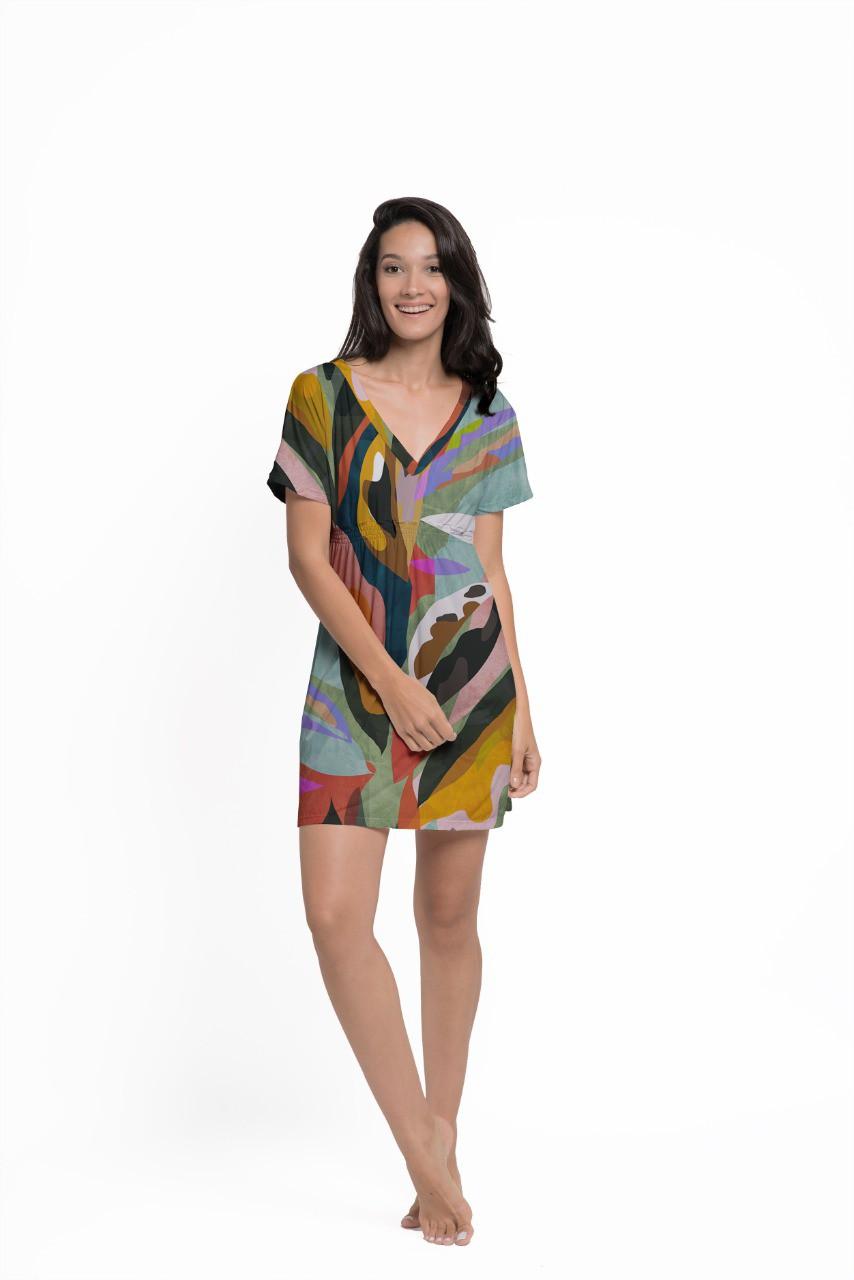 Vestido Japonesa Curta - Arte Moderna  - Lalie Lalou