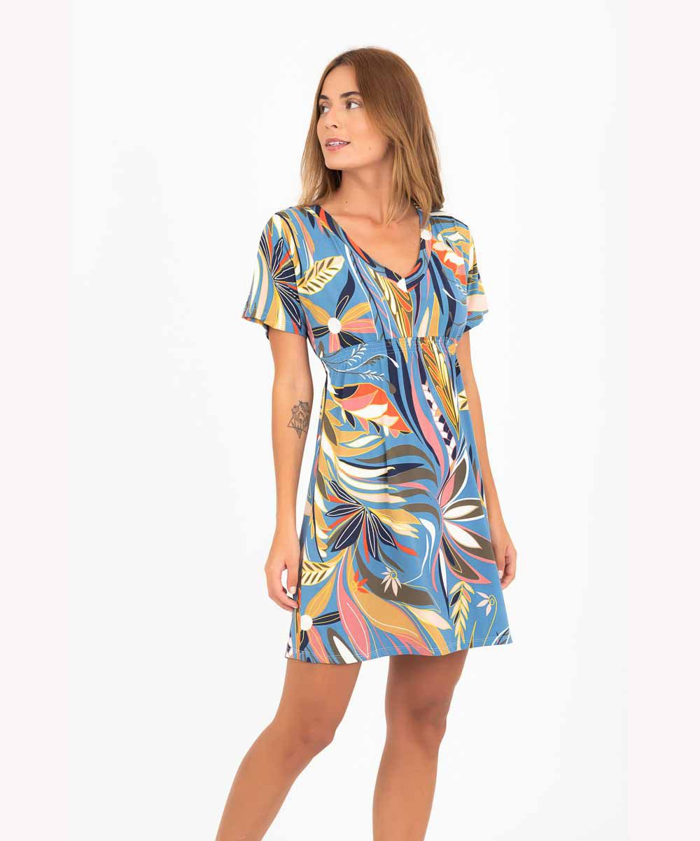 Vestido Japonesa Curta - Tropicana  - Lalie Lalou