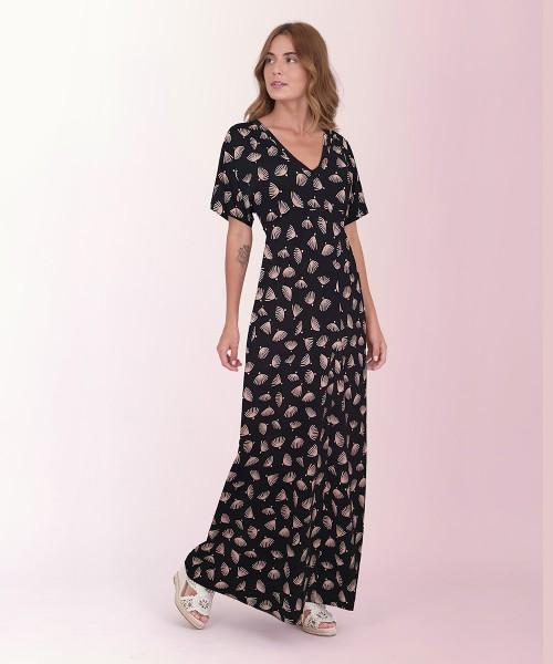 Vestido Japonesa Longo - Conchas