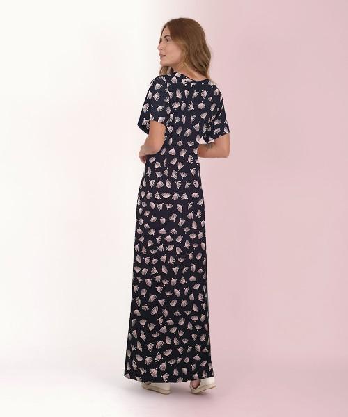 Vestido Japonesa Longo - Conchas  - Lalie Lalou