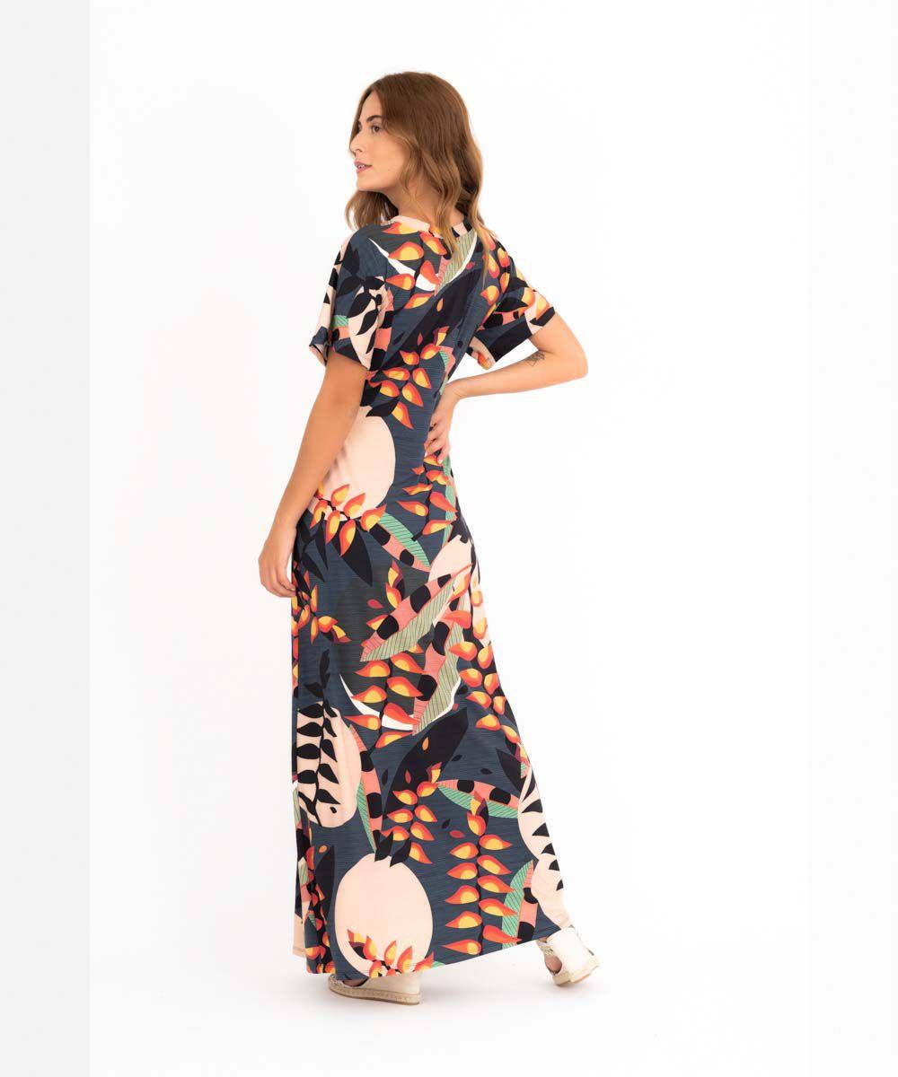Vestido Japonesa Longo - Helicônia  - Lalie Lalou