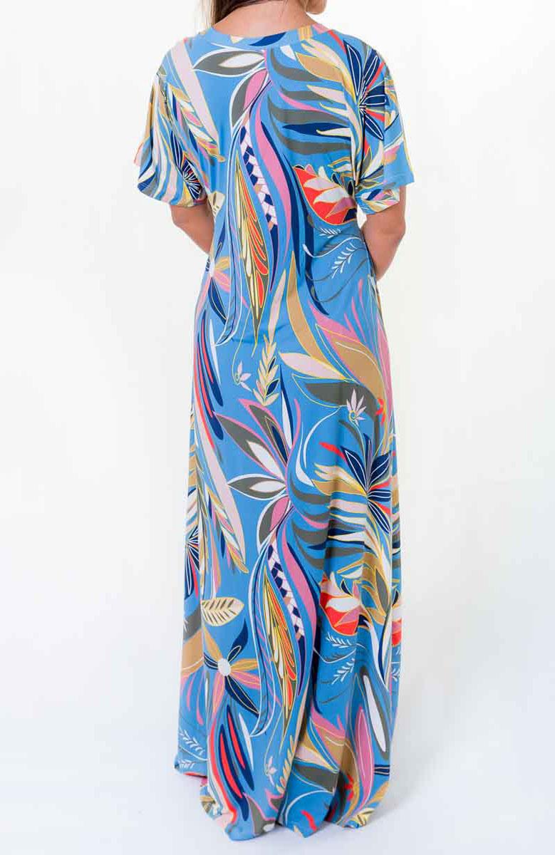 Vestido Japonesa Longo - Tropicana  - Lalie Lalou