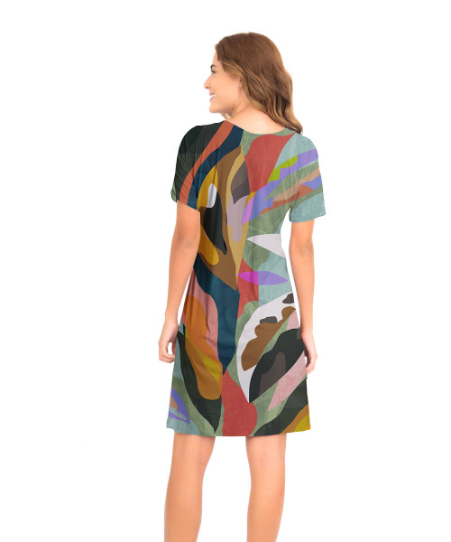 Vestido Japonesa Médio - Arte Moderna  - Lalie Lalou