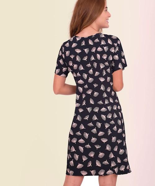 Vestido Japonesa Médio - Conchas   - Lalie Lalou