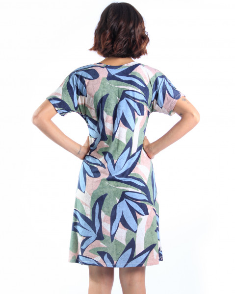 Vestido Japonesa Médio - Dracena  - Lalie Lalou